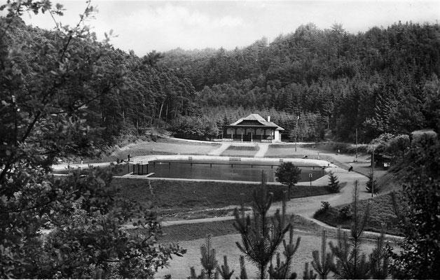 Früher - 1938, Neubau Schwimmbad