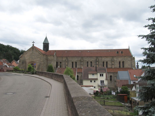Abteikirche aus Norden