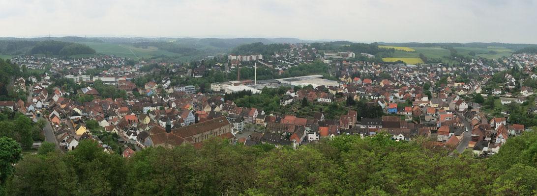Stadtansicht aus Nordosten vom Schlossberg aus