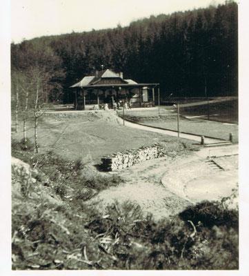 1935, Schwimmbad im Bau
