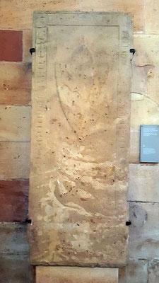 Grabplatte 1, Raugraf Ruprecht ll von Boimburg, gestorben 9. Juli 1281