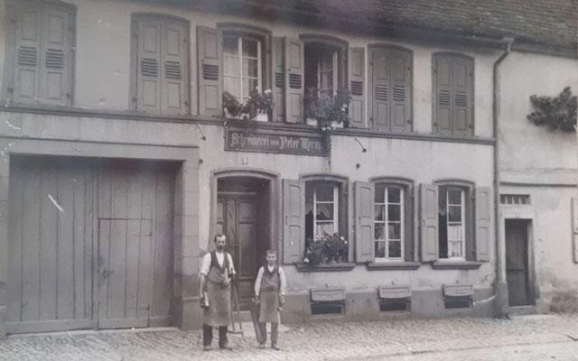 Früher, 1912, ehemalige Schreiner Peter Wernz