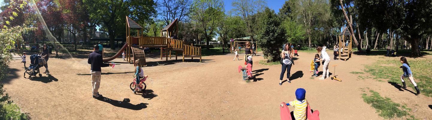 Playground in Villa Borghese Gardens