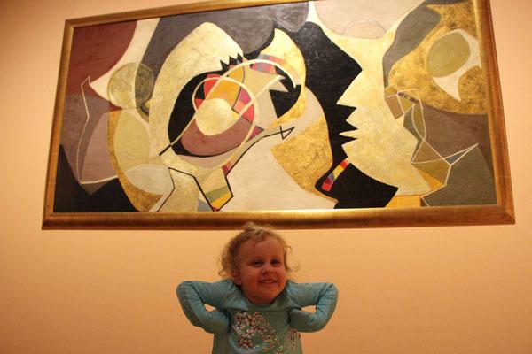 Kids enjoying Oslo's National Gallery