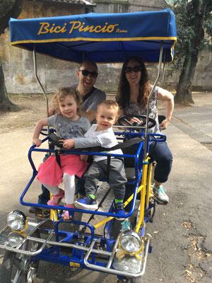 Villa Borghese Gardens - 4 seater bike rental