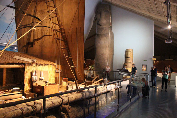 """The kids loved seeing """"Moana's boat"""" at Oslo's Kon-Tiki Museum"""