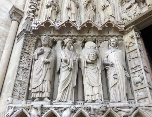 Façade Cathédrale Notre-Dame de Paris