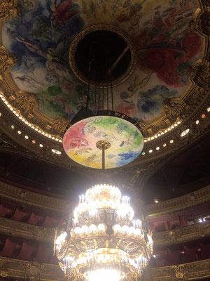 Guide conférencier Opera de Paris Lustre salle de spectacle