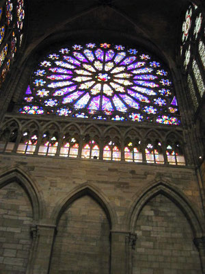 Vitraux rose architecture gothique