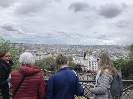 guide conférencier Montmartre vue sur Paris