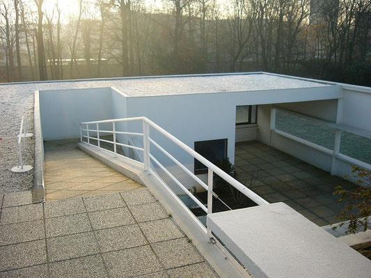 Visite privée Villa Savoye Le Corbusier terrasse