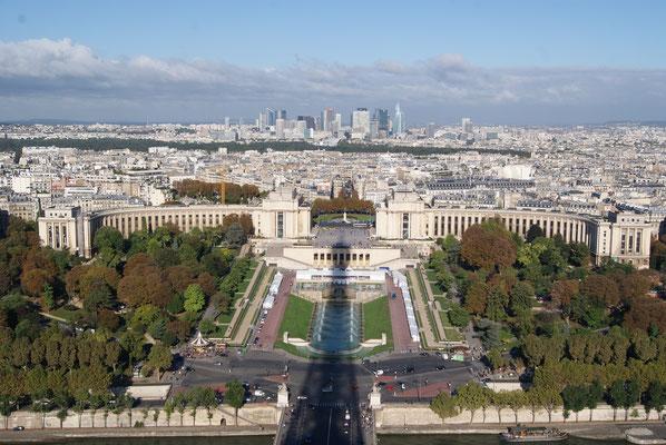 Visite guidée Tour Eiffel Paris vue Trocadéro