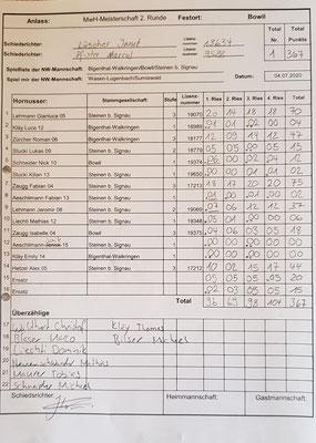 2. Meisterschaftsspiel gegen Wasen-Lugenbach/Sumiswald