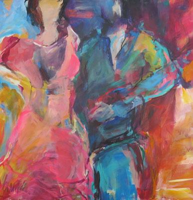 Dance I, Acryl auf Leinwand, 100 x 100 cm