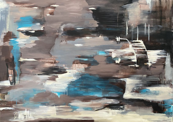 View to the sea, 150x100 cm, Acryl auf LW