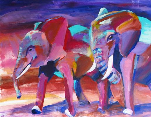 "100 x120 cm, Acryl auf Leinwand, ""Spaziergang"""