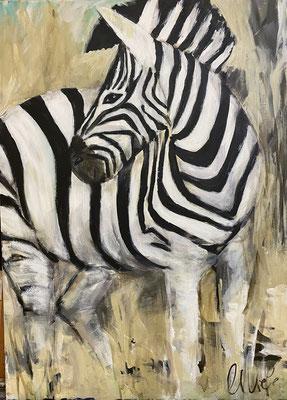 """50x70cm, Acryl auf LW, """"Little Zebra II"""""""
