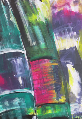 different Wines I, 50 x 70 cm, Acryl auf LW