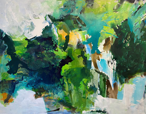 """""""Walking through the forrest II""""  ca. 195 x 145cm, Acryl, oil and pigments a L"""