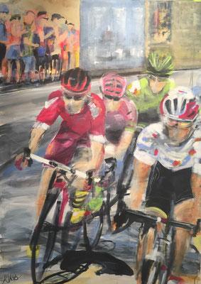 150x 100 cm,  Acryl auf Leinwand, Tour d'Europe