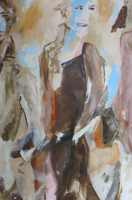 Girls' Day II, 80x120 cm, Acryl auf Leinwand