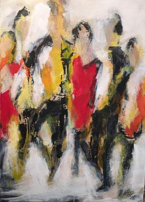 50x70 cm, Acryl auf Leinwand