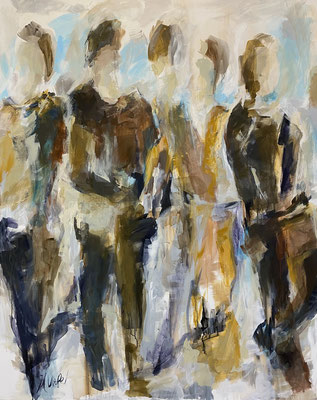 """People II"", 120x150 cm, Acryl und Pigmente auf LW"