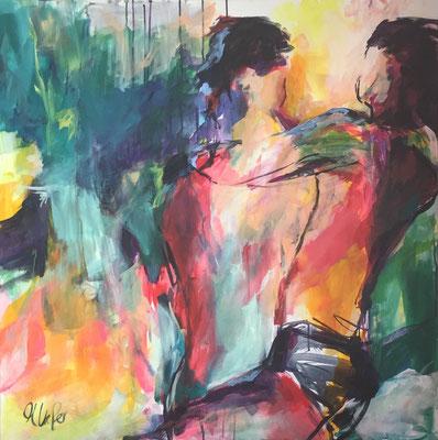 Dance II , Acryl auf Leinwand, 100 x 100 cm