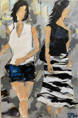 """""""Girls' day"""", 100x150 cm. Acryl auf LW"""
