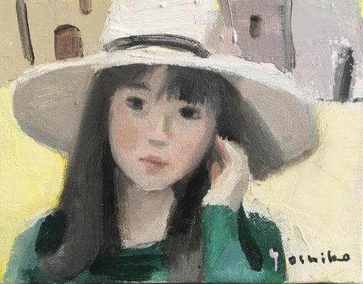「帽子の娘」F0油彩