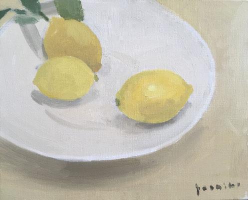 「レモン」F3油彩