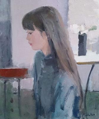 アトリエの娘 8号 (個人蔵)