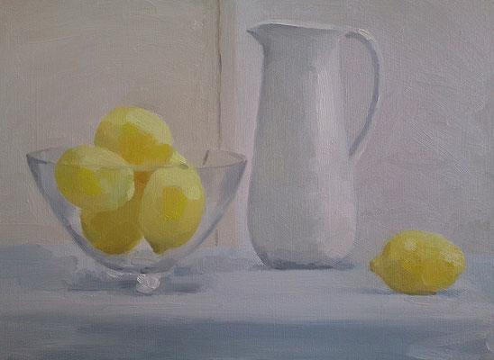 レモンと水差し F4