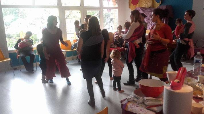 Danse-portage, danse maman bébé, Céline Hereng, Babywearing