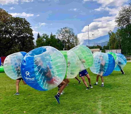 Bubble foot mêlée générale activité evg Annecy
