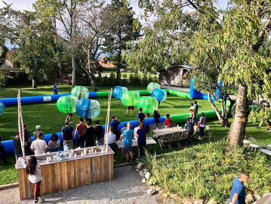 bubble foot en tournoi sportif pour team building entreprise