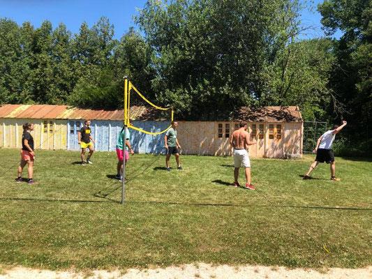 Activité exterieur team-building, hockey savon