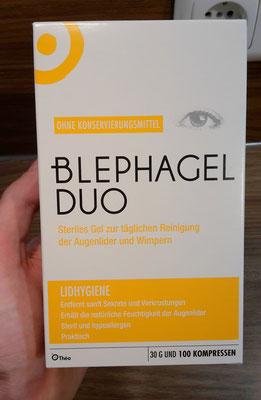 Beschreibung von Blephagel Duo auf der Verpackung