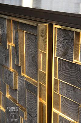 PHOENIX SIDEBOARD Bronze, charred wood