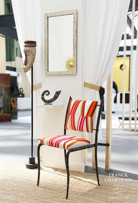 FORGE BRANCHE CHAIR Wrought iron, fabric