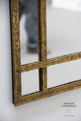 EPURE MIRROR Gold leaf and wrought iron