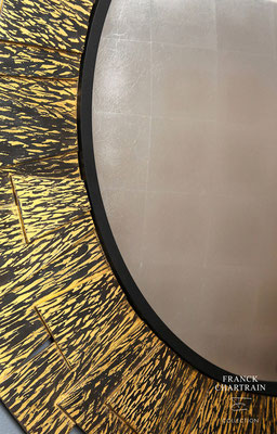 FLAME MIRROR Bronze, gold leaf