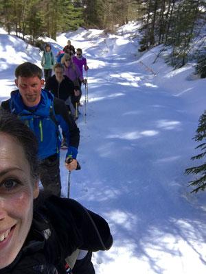 Impressionen Yoga und Schneeschuhwandern