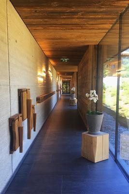 Weg vom Yoga zur Sauna