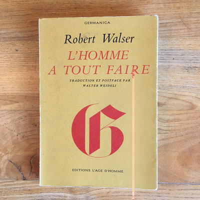 Livre  L'homme à tout faire de Walser