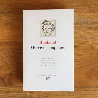 Livre Pléiade Oeuvres compètes de Rimbaud
