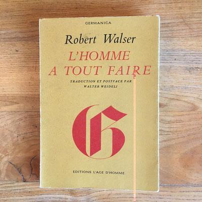Livre Robert Walser, L'homme à tout faire