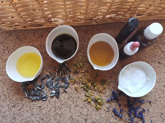Naturbelassene Pflanzenöle