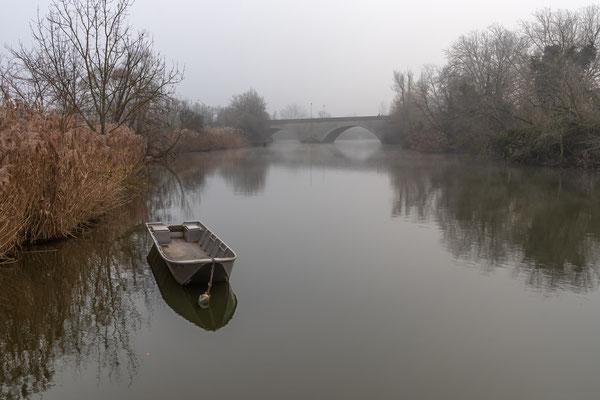 Blick zur Konrad-Adenauer-Brücke