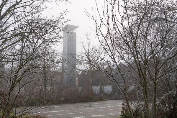Der Schlauchtrocknungsturm der Freiwilligen Feuerwehr Kitzingen